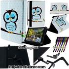 """Folio Stand Leather Cover Case For Verizon Ellipsis 7"""" 8"""" 10"""" Tablet + STYLUS"""