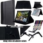 "Folio Stand Leather Cover Case For Verizon Ellipsis 7"" 8"" 10"" Tablet + STYLUS"
