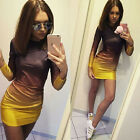 Summer Women Bandage Bodycon Long Sleeve Evening Party Cocktail Short Mini Dress