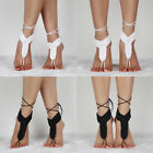 Barefoot Sandals Crochet Cotton Foot Jewelry Anklet Bracelet Ankle Chain WXN
