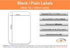 LARGE WHITE Self Adhesive / Sticky Labels - 101mm x 152mm ( 4 X 6 inches)