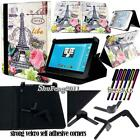 """Universal Folio Stand Leather Cover Case For Various 7"""" 8"""" 9"""" 10"""" TABLET+ STYLUS"""