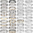Wholesale Womens Mens Gold/Silver Stainless Steel Punk Cuff Bangle Bracelet Gift