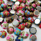 10/50/100pcs Flower Fabric Covered Button Flatback No Hole To Sew Flower Center
