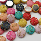 10/50/100pcs Fabric Covered Button Flatback No Hole To Sew Craft Flower Center