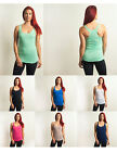 48 Pack Loose Solid Fitness Fashion Womens Racerback Tank Wholesale Lot