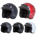 New Spada Motorcycle Scooter Bike Plain Open Face Riding Helmet Size XS-XXL