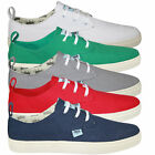 NEW MENS WE ARE SAINTS RILEY DESIGNER LACE UP CANVAS & SUEDE TRAINERS SHOES SIZE