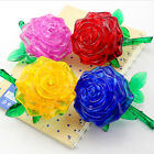 DIY 3D crystal model puzzle building toy assemble game rose flower love gift 1pc