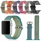 Sport Royal Woven Nylon Wrist Bands Strap Bracelet For Apple Watch 1 2 38mm/42mm