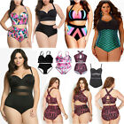 Women High Waist Bikini Push Up Padded Swimwear Swimsuit Bathing Suit Plus Size