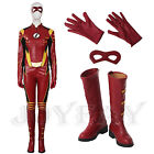 The Flash 3 Jesse Quick Cosplay Costume Full Set with Boots