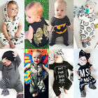 US Stock Newborn Toddler Kids Baby Boys Romper Jumpsuit Bodysuit Clothes Outfits