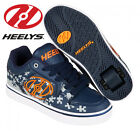 Heelys Motion Plus Kids Trainers Navy Blue Orange Roller Skates Shoes Jigsaw