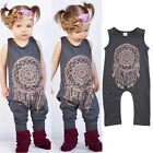 Toddler Kids Baby Girls Boys Casual Sleeveless Jumpsuit Romper Playsuit Bodysuit