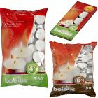 4/8 Hour Burn White Tealights/Tea/T Light Small Candles Wax Unscented Pack 50/10