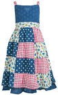 Girls Chloe Louise Patchwork Gingham Polka Flower Sleeveless Dress 2 to 7 Years