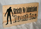 Horror Door Sign ZOMBIES WITCHES Personalised Home Den Bedroom Shop Plaque Shed