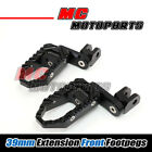 Black TRC Front CNC Foot Pegs 39mm Extend For CBR1000RR Fireblade / ABS 2014