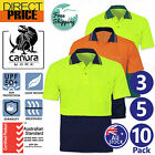3 5 10x Hi Vis Polo Shirt Short Sleeve Work wear Safety Cool Dry Air vents UPF50