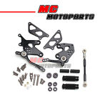 Black CNC Rearsets Racing Foot Pegs For Kawasaki Ninja 250R 08 09 10 11 12