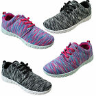 Girls Boys Kids Lightweight Pink Grey White Lace Up Cheap Trainers Size