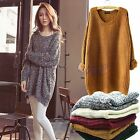 Women's Oversized Batwing Knitted Sweater Tops Jumper Cardigan Pullover Coats PO