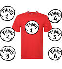 Thing One And Thing Two Dr Seuss Matching Funny Cute T-Shirts Short Sleeve Top
