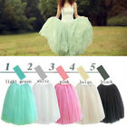 New Women Girl Princess Fairy Style 5 layers Tulle Dress Bouffant Skirt-5 colors