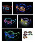 Glow Light Glasses LED EL Wire Frame Shades Shutter Neon for Party Disco Club