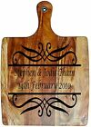 Engraved Painted & Personalised Bread/Chopping Board - Wedding Gift - 40