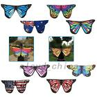Fairy Butterfly Wing Multicolor Ombre Snowflake Flag Costume Cape Wrap Shawl