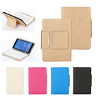 Leather Case Cover Stand For 7-8 inch Tablets + Wireless Bluetooth Keyboard New