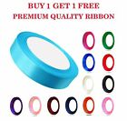 3mm x 100meters Roll Premium Quality SATIN RIBBON Wedding Craft Vibrant Colours