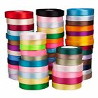 25mm x 20meters Roll Premium Quality SATIN RIBBON Wedding Craft Vibrant Colours