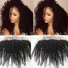 "8-20"" Brazilian Human Hair Afro Kinky Curly 13x2 Lace Frontal closure Ear to Ear"