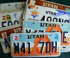 UTAH various types/backgrounds AMERICAN LICENSE NUMBER PLATE