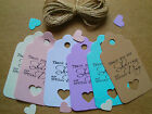 Thank You for Sharing Our Special Day Handcut Gift Tags 25, 50, 100 withTwine
