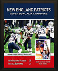 NEW ENGLAND PATRIOTS Super Bowl XLIX Champions 2014 8x10 Tom Brady Plaque