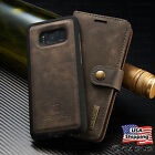 Внешний вид - For Galaxy S9/S8+/S7/Note 8 Leather Removable Wallet Magnetic Flip Case Cover