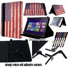 Folio Stand Leather Cover Case For Various Dell Venue Models Tablet + STYLUS