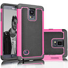 For Samsung Galaxy Note 4 Armor Shockproof Hybrid Rugged Rubber Hard Case Cover