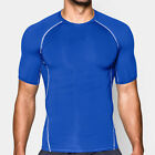 Mens Fitted Short Sleeve Crew Neck Training Shirt Dry Athletic Sport Tee  YT3293