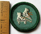 1963-1980 Girl Scout Junior SKATER BADGE Roller Ice Skating Patch CHOOSE Fabric!