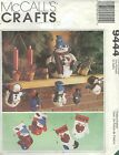 """McCall's 9444 Frosty 12"""" Centerpiece and Ornaments and More    Sewing Pattern"""