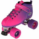 Riedell Dart 2 Tone Purple & Pink Ombre Quad Roller Speed Skates Kids & Adult