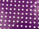 PURPLE/WHITE POLKA DOTS WATERPROOF OUTDOOR TABLE OILCLOTH PVC PARK PICNIC CLOTH