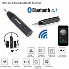 Super Mini Car Aux 3.5mm Audio Wireless Bluetooth 4.1 Mic Receiver Music Adapter