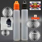 6 x 30ml E LIQUID DROPPER BOTTLE - Pen Style Thin Tip Childproof - RM Lg Letter