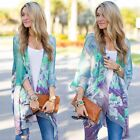 Womens Boho Bohemian Floral Chiffon Kimono Top Blouse Cardigan Shawl Long Tops K